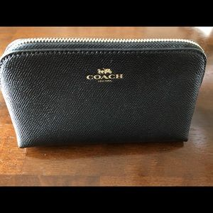 Coach Small Black Cosmetic Makeup Bag